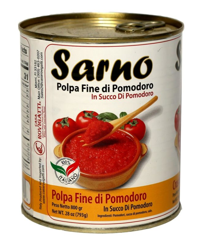 Tomatoes Sarno Crushed 800 Grams